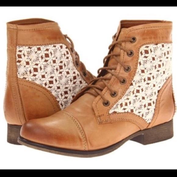 d0d67f8dffe Steve Madden Shoes - Steve Madden Thunder - C cognac crochet boots 8.5
